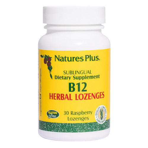 Nature's Plus Vitamin B 12 Herbal Lozenges 30-Nature's Plus-Ur Vitamins