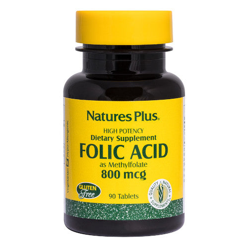 Nature's Plus Folic Acid 800 Mcg 90 Tablets-Nature's Plus-Ur Vitamins