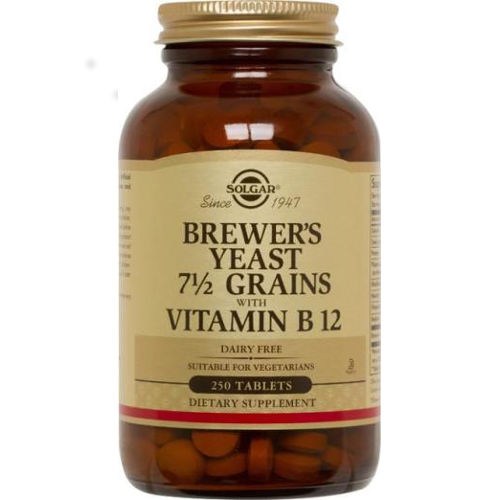 Solgar - Brewer's Yeast 7 1/2 Grains With Vitamin B12