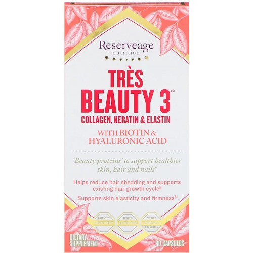 ReserveAge Tres Beauty 3 90 Capsules-ReserveAge-Ur Vitamins