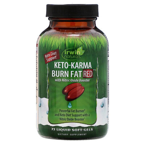 Irwin Naturals Keto Karma Burn Fat RED 72 Softgels