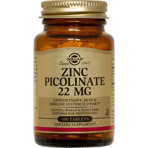 Solgar - Zinc Picolinate 22 mg 100 Tablets