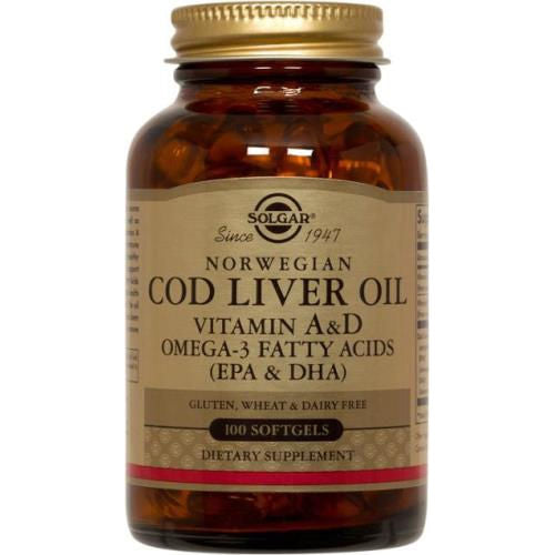 Solgar - Norwegian Cod Liver Oil 100 Softgels