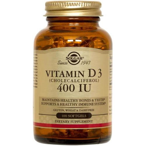 Solgar - Vitamin D3 400 IU 100 Softgels
