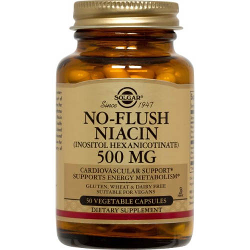 Solgar - No-Flush Niacin 500 mg 50 VCaps
