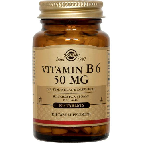 Solgar - Vitamin B6 50 mg 100 Tablets
