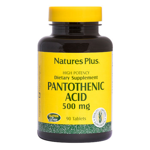 Nature's Plus Pantothenic Acid 500 Mg 90 Tablets-Nature's Plus-Ur Vitamins