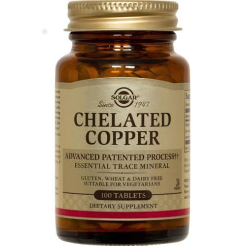 Solgar - Chelated Copper 100 Tablets