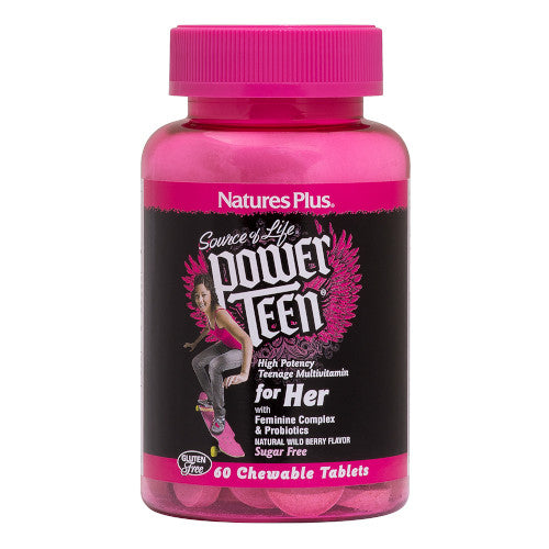 Source Of Life Power Teen For Her MultiVitamin 60 Chews-Ur Vitamins