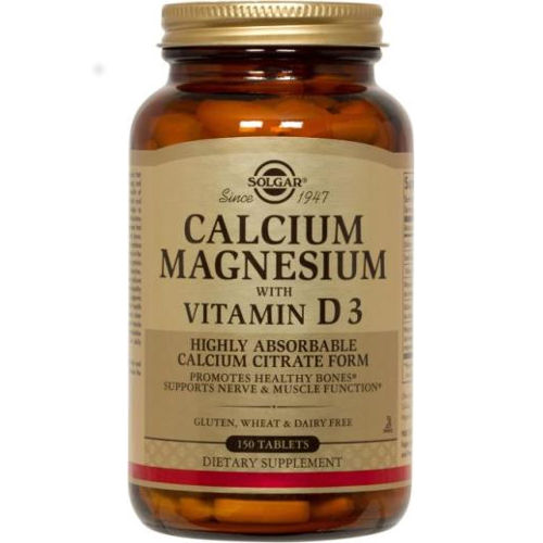 Solgar - Calcium Magnesium with Vitamin D3 150 Tablets