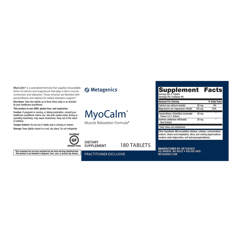 Metagenics MyoCalm 180 Tablets