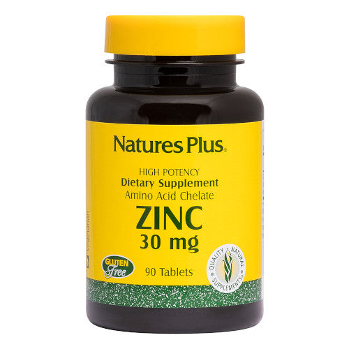 Nature's Plus Zinc 30 Mg Tablets 90-Nature's Plus-Ur Vitamins