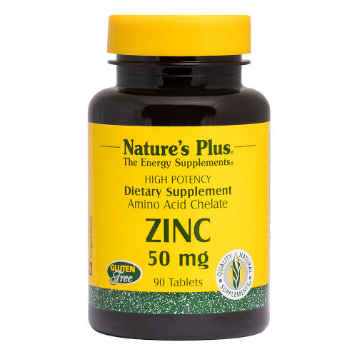 Nature's Plus Zinc 50 Mg Tablets 90-Nature's Plus-Ur Vitamins