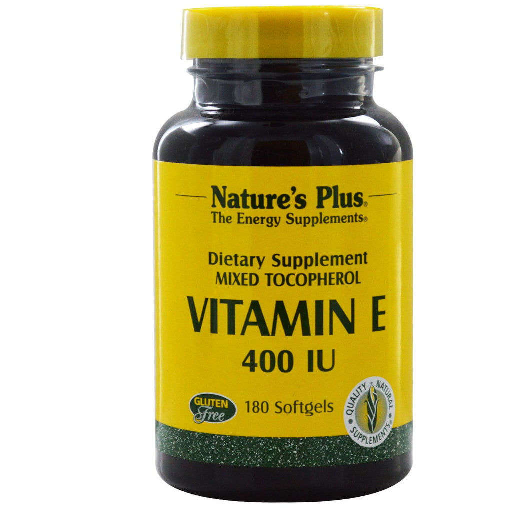 Nature's Plus Vitamin E 400 IU Mixed 180 Softgels-Ur Vitamins