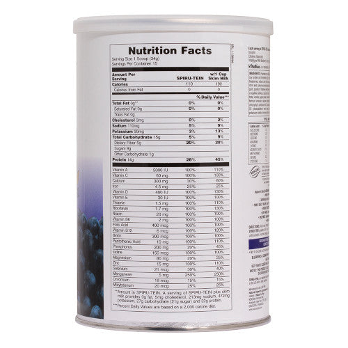 Spirutein Blueberry Shake 1.12 Lb-Nature's Plus-Ur Vitamins