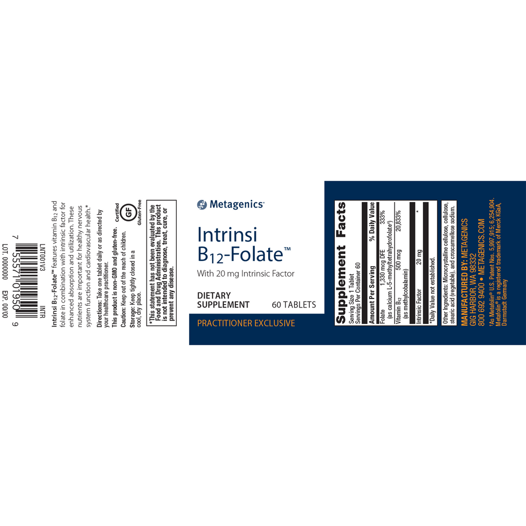 Metagenics Intrinsi B12 Folate 60 Tabs