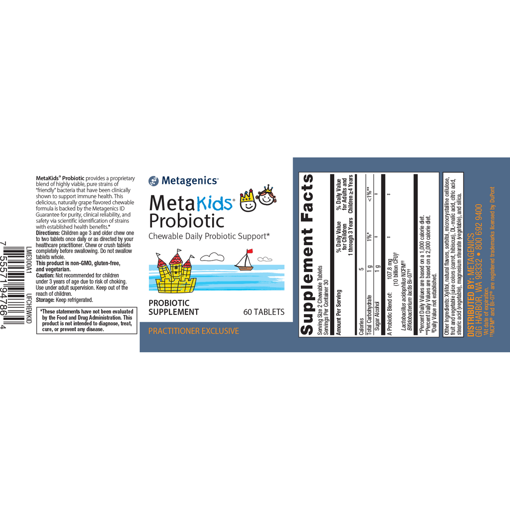 Metagenics UltraFlora Children's 60 Tabs