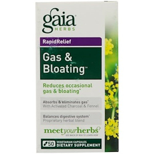 Gaia Herbs Gas & Bloating 50 Caps