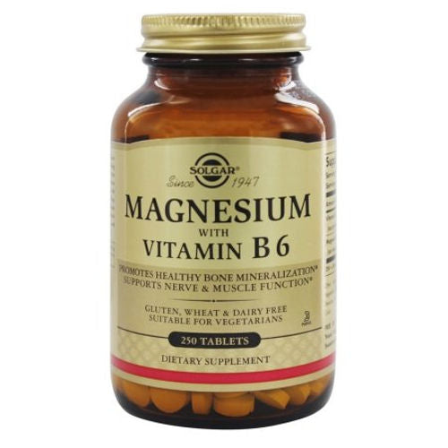 Solgar - Magnesium with Vitamin B6 250 Tablets
