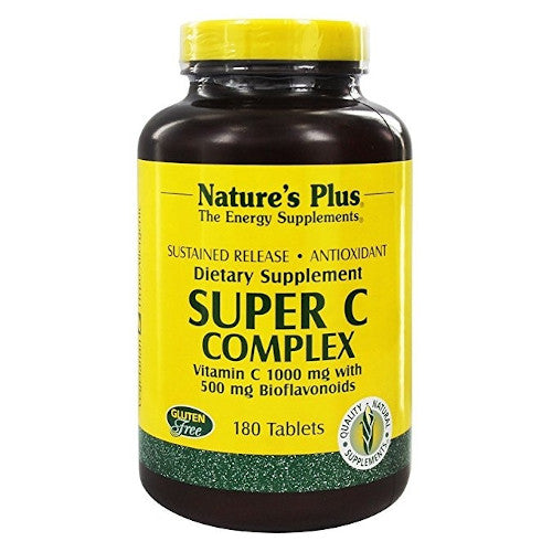 Nature's Plus Super C Complex 180 Tablets-Nature's Plus-Ur Vitamins