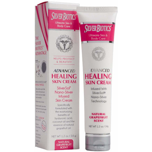 Silver Biotics Advanced Healing Skin Cream Grapefruit 3.4 oz-Silver Biotics-Ur Vitamins
