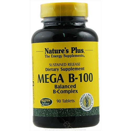 Nature's Plus Mega B 100 90 Tablets-Nature's Plus-Ur Vitamins