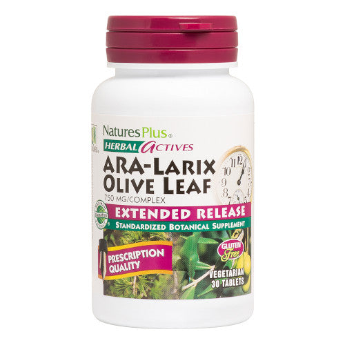 Nature's Plus Ara Larix Olive Leaf 30 Tabs-Nature's Plus-Ur Vitamins