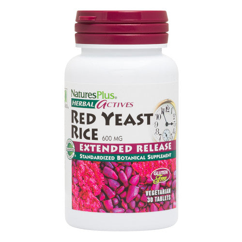 Extended Release Red Yeast Rice 600Mg 30 Tabs-Nature's Plus-Ur Vitamins