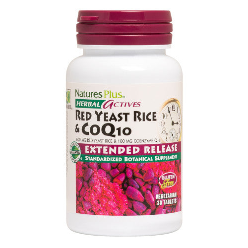 Red Yeast Rice 600 mg CoQ10 100 mg Tablets-Nature's Plus-Ur Vitamins