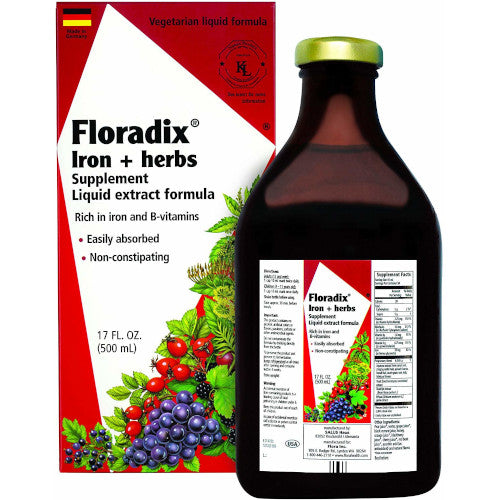 Floradix Iron + Herbs Liquid 17 fl oz
