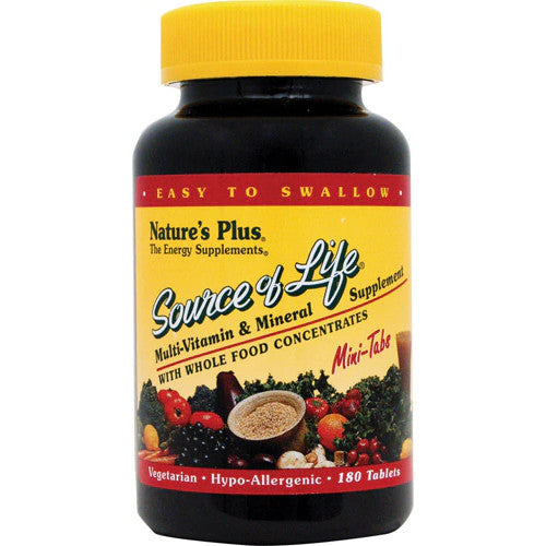 Source Of Life Mini-Tabs 180-Nature's Plus-Ur Vitamins