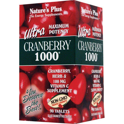 Nature's Plus Ultra Cranberry 1000 Mg Tablets 90-Nature's Plus-Ur Vitamins