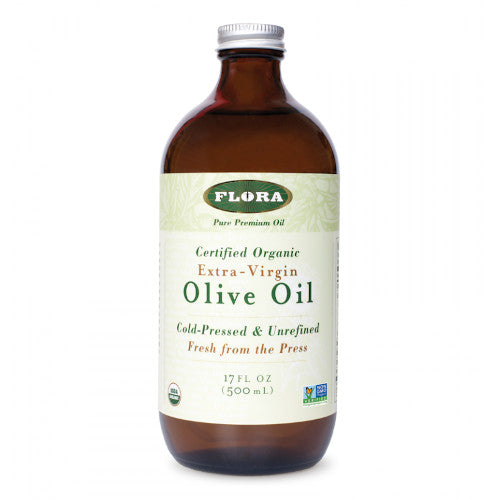 Flora Olive Oil Extra Virgin Organic 17 oz