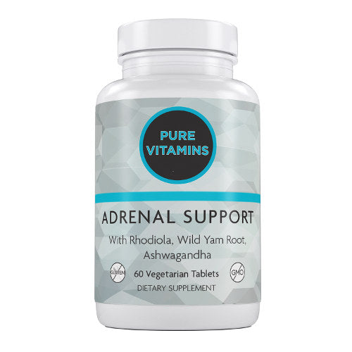 PURE VITAMINS ADRENAL SUPPORT 60 VTABS