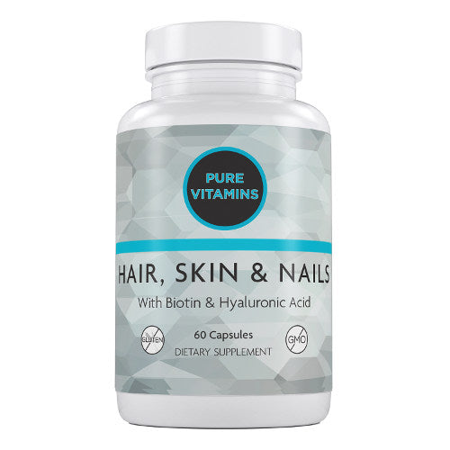 PURE VITAMINS HAIR SKIN & NAIL 60 CAPS