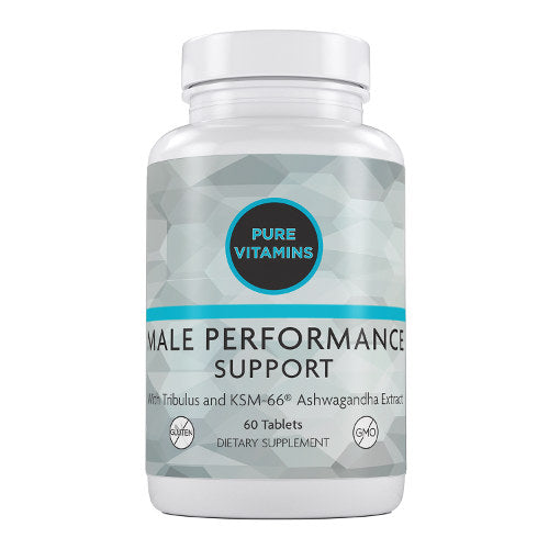 PURE VITAMINS MALE PERFORMANCE SUPPORT 60 TABS