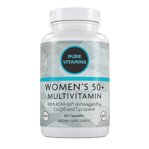 PURE VITAMINS WOMEN'S 50 + MULTIVITAMINS 60 CAPS