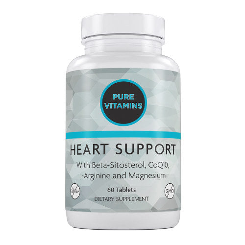 PURE VITAMINS HEART SUPPORT 60 TABLETS
