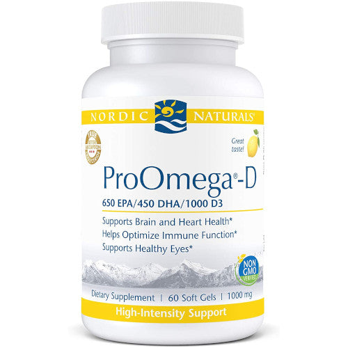 ProOmega-D Lemon Flavor 1000 mg 60 Softgels