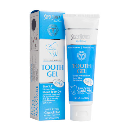 Silver Biotics Tooth Gel Glacial Mint 4 oz-Silver Biotics-Ur Vitamins