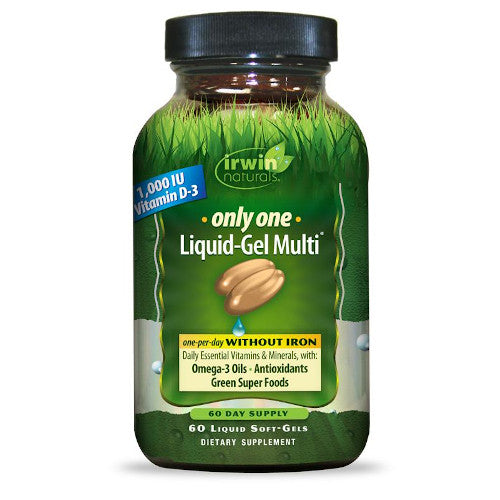 Irwin Naturals Only One Multi Iron Free 60 Softgels-Irwin Naturals-Ur Vitamins