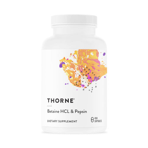 Thorne Betaine HCL Pepsin  450 VCaps