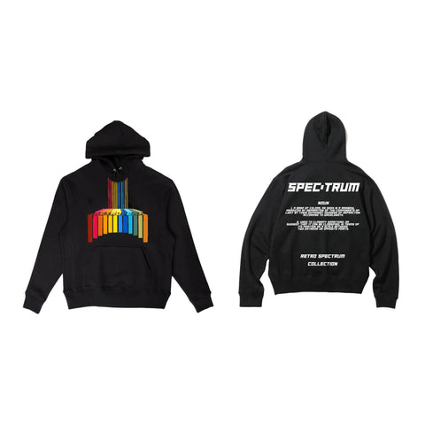 Black Rainbow Spectrum Hoodie - Medium Weight