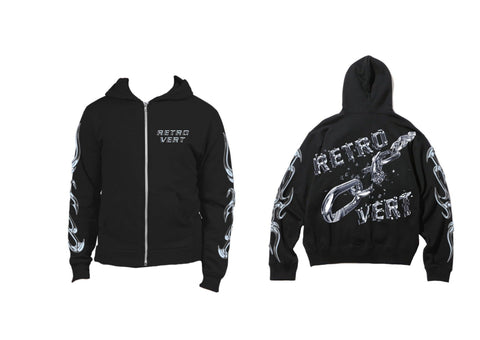 Retro Chain Full-Zip Hoodie - Medium Weight