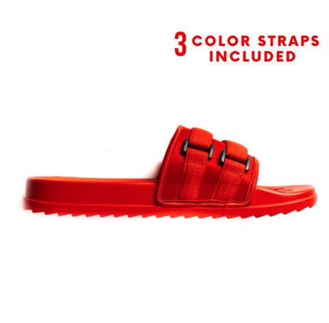 Retro Vert Slides Interchangeable - Triple Red