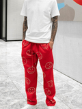Smiley Pants - Red