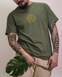 FINGERS CROSSED OLIVE short sleeve t-shirt