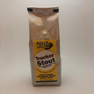 Trucker Stout 12oz bag WHOLE BEAN coffee