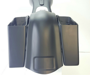 "Harley 4"" Stretched Saddlebags Overlay Fender - Backyard Air Suspension & Innovations, LLC."
