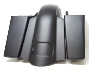 "Harley 4"" Stretched Saddlebags Replacement Fender - Backyard Air Suspension & Innovations, LLC."